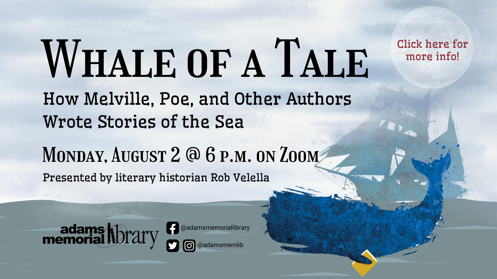 Whale of a Tale program.  Click here for more details!