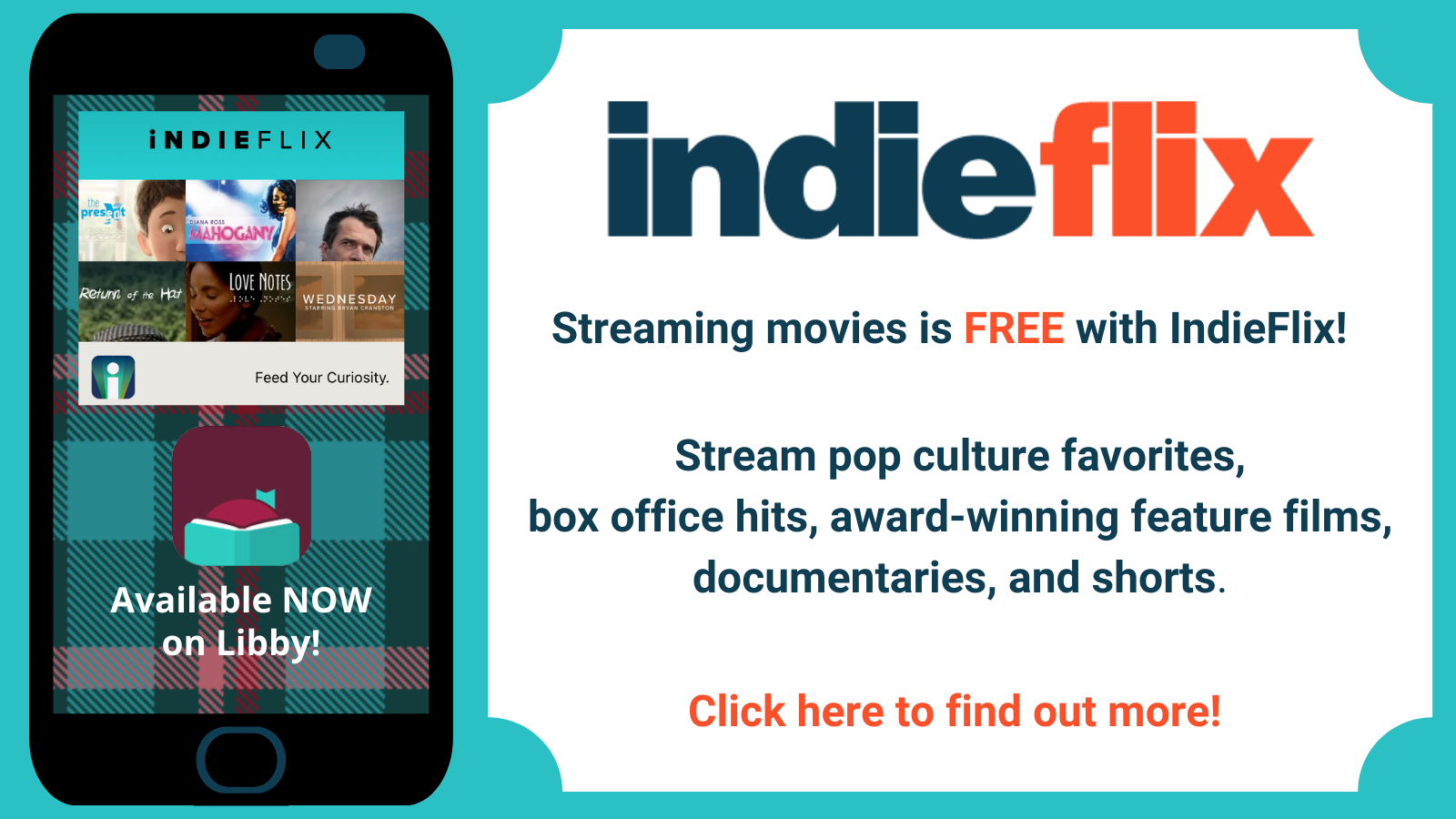 IndieFlix--Now on Libby!