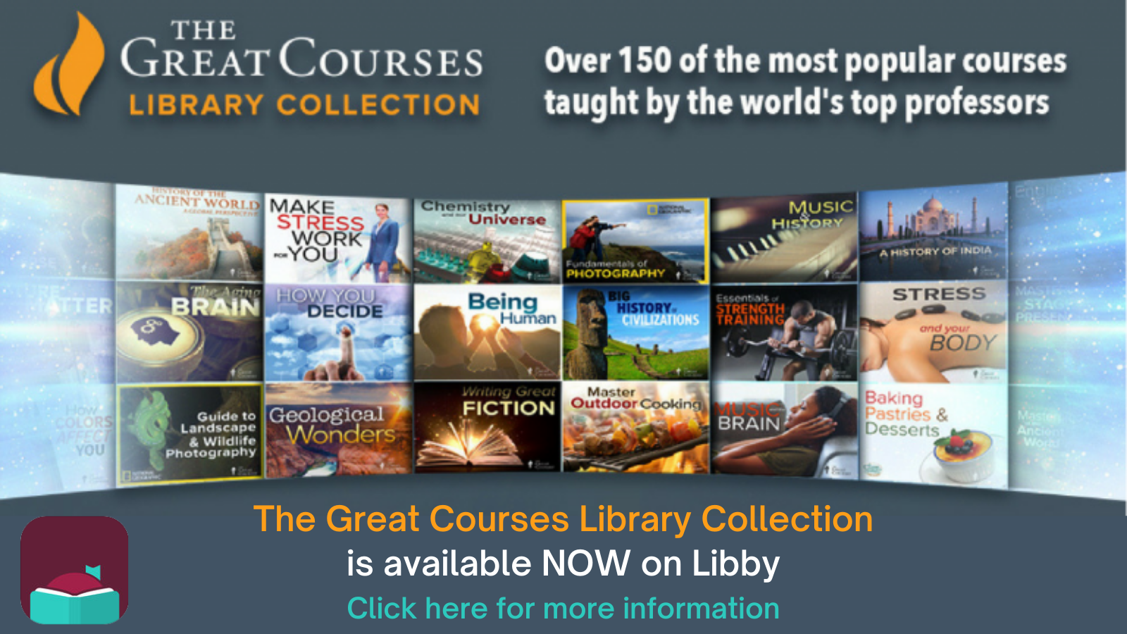 The Great Courses--Now on Libby!